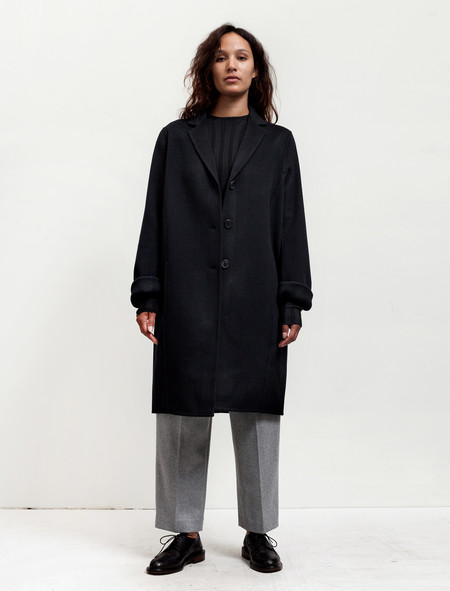 Acne Studios Womens Elsa Doublé Coat Navy