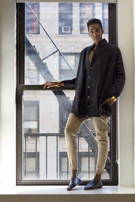 pre order - été noir knit coat