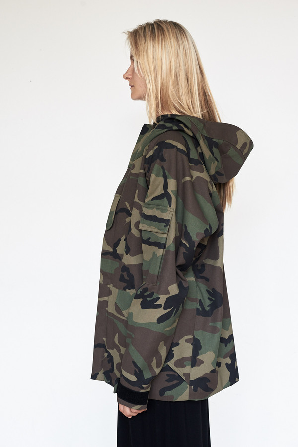 Cotton Camouflage Storm Coat