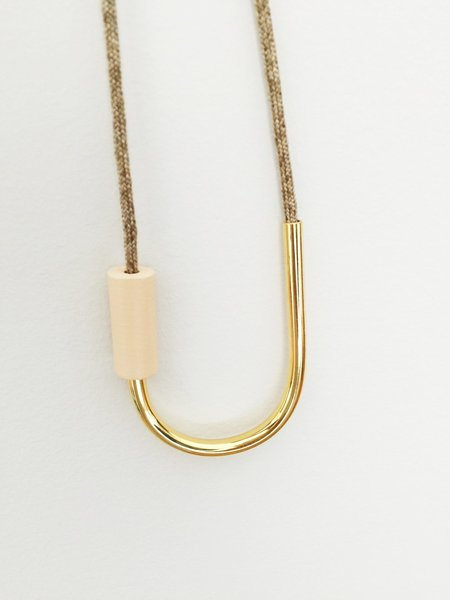 Maslo Jewelry Tipping Point Necklace - Nude/Sand