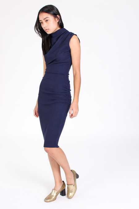 Obakki Moraine dress in navy