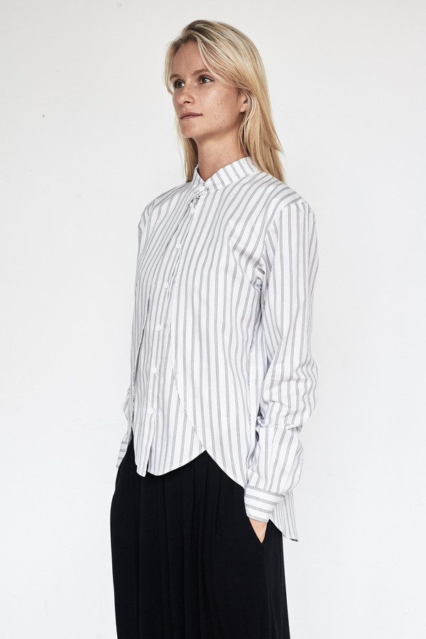 Assembly New York Cotton Stripe Calla Top