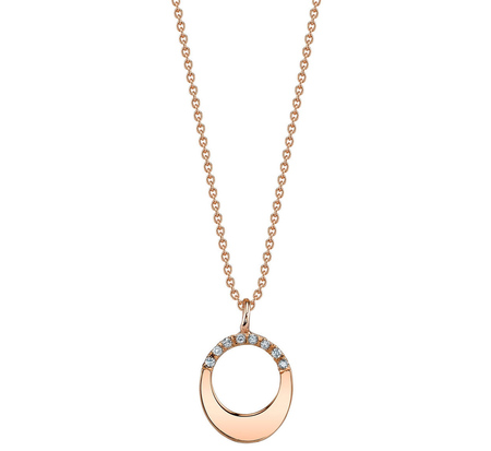TR32 Pave Small Egg Rose Gold Necklace by Gabriela Artigas