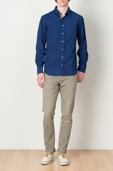 Men's Long Sleeve Indigo Chambray Shirt