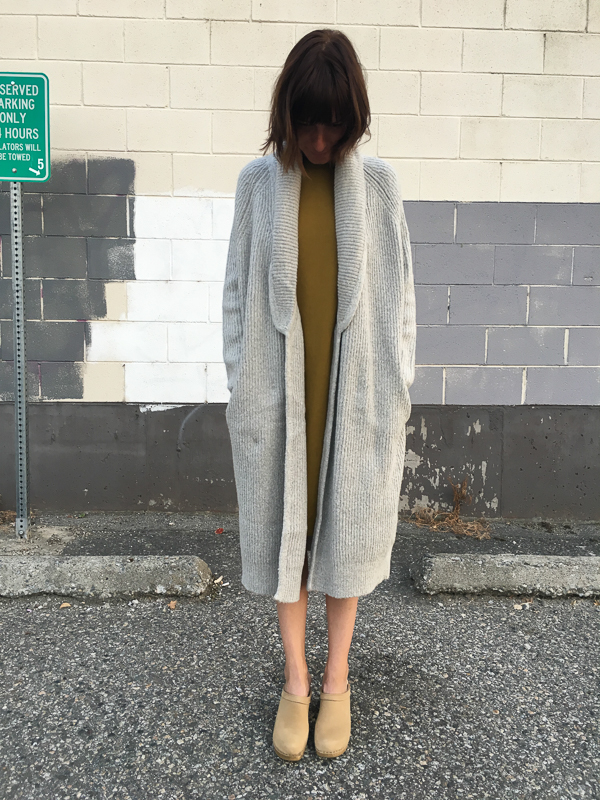 Line sweater coat