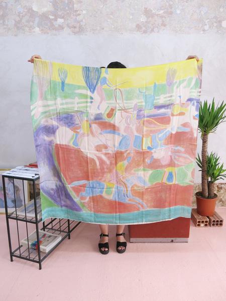Massif Central silk satin Scarf by Tal R