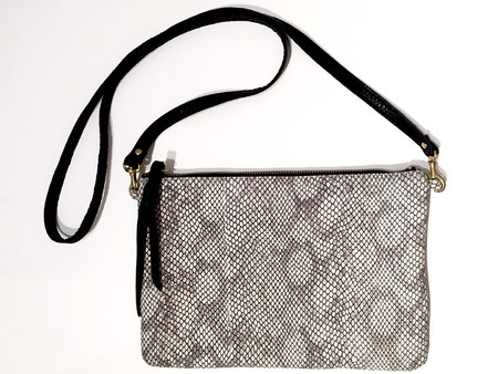 OLIVEVE queenie cross body in gray cobra cow leather