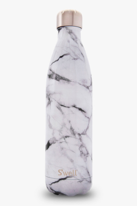 S'well Large Water Bottle - White Marble