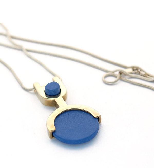 Tiro Tiro Blue Cipher Necklace