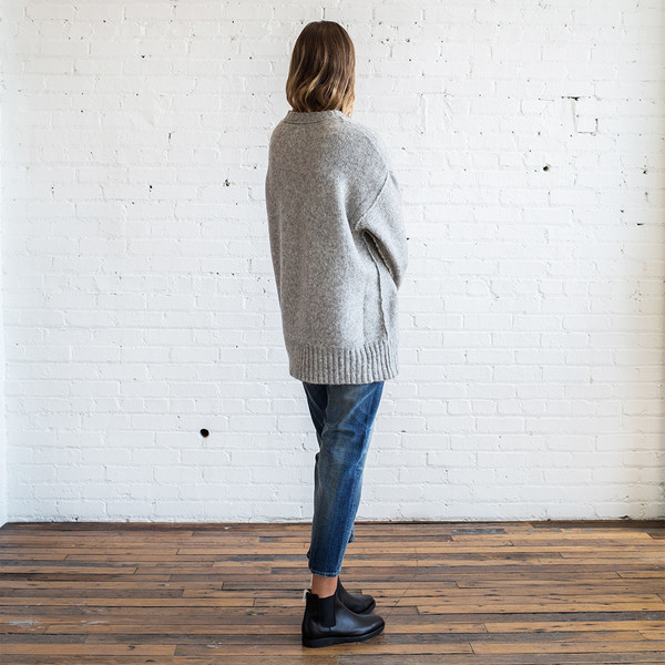 R13 Oversized Crewneck Sweater