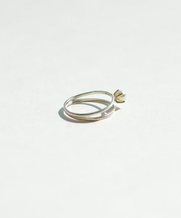 Bing Bang NYC Bing Bang Silver Pearl Illusion Ring