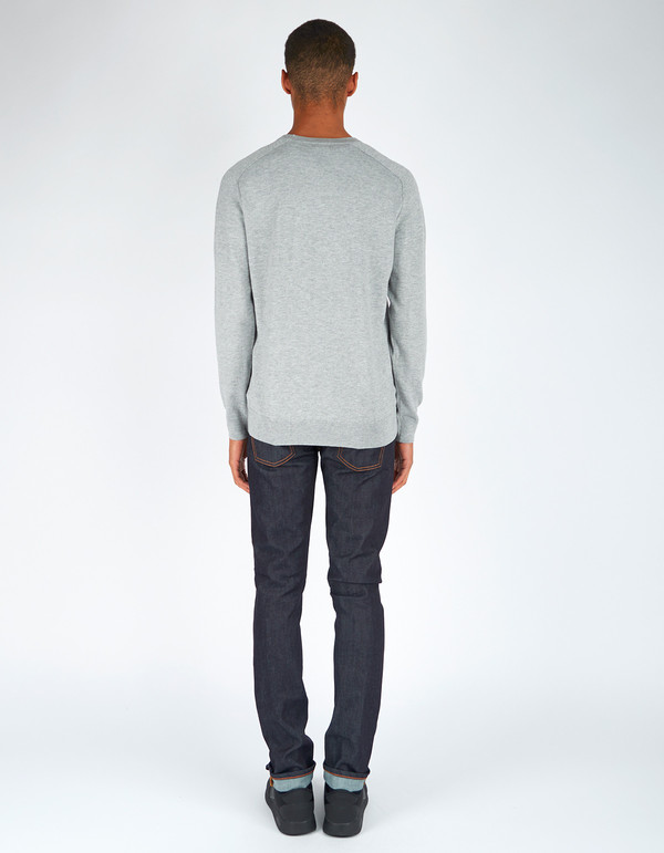 Men's Filippa K Cotton Merino Sweater Light Grey Melange