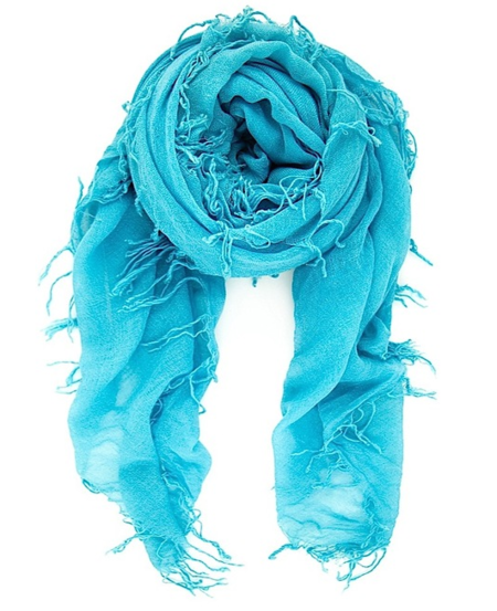Chan Luu - New Turquoise Cashmere & Silk Scarf