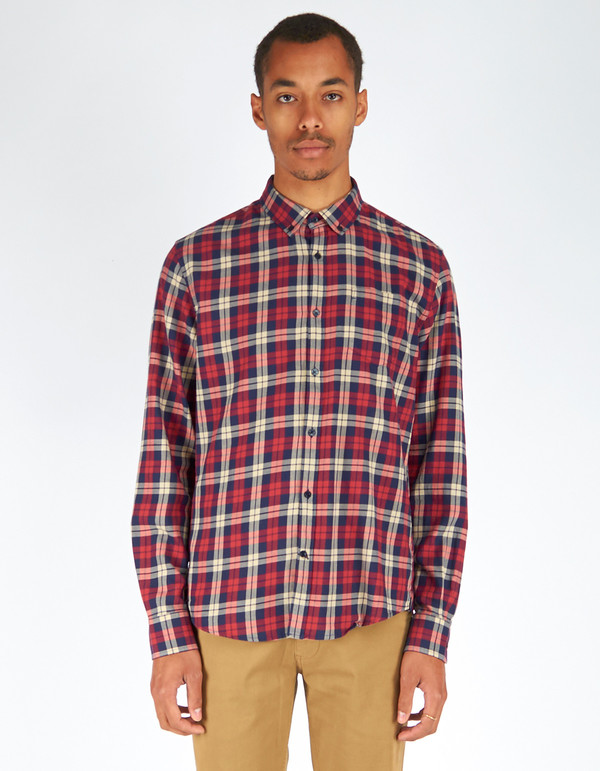 Men's Woolrich John Rich & Bros. Archive Check Shirt Red