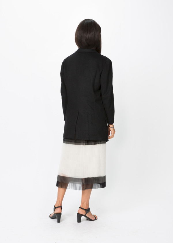 Nocturne #22 Three Button Wool Coat