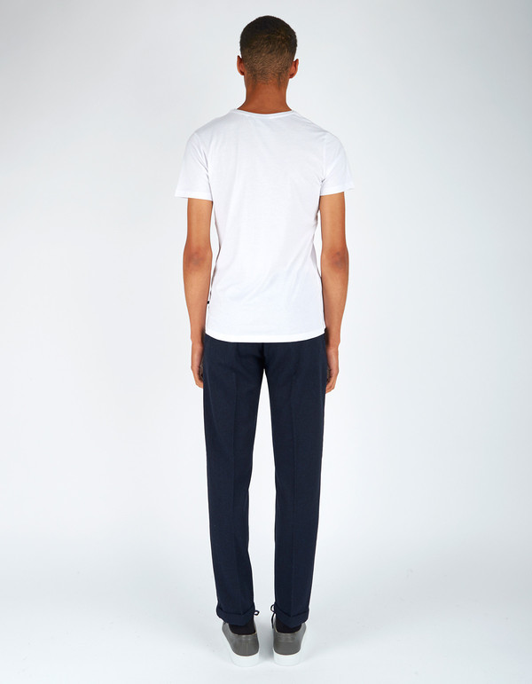 Men's Neuw Straight Edge Wool Chino Indigo