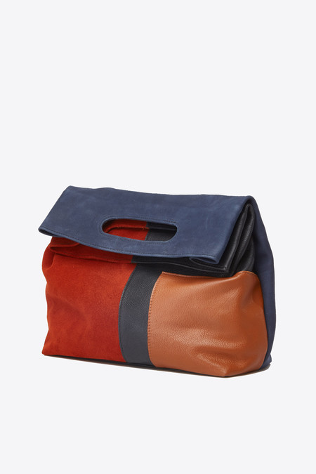 Marie Turnor Emporte Large Clutch in patchwork