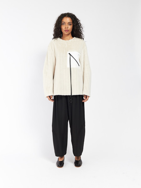 CF Goldman Patch Pullover Cream