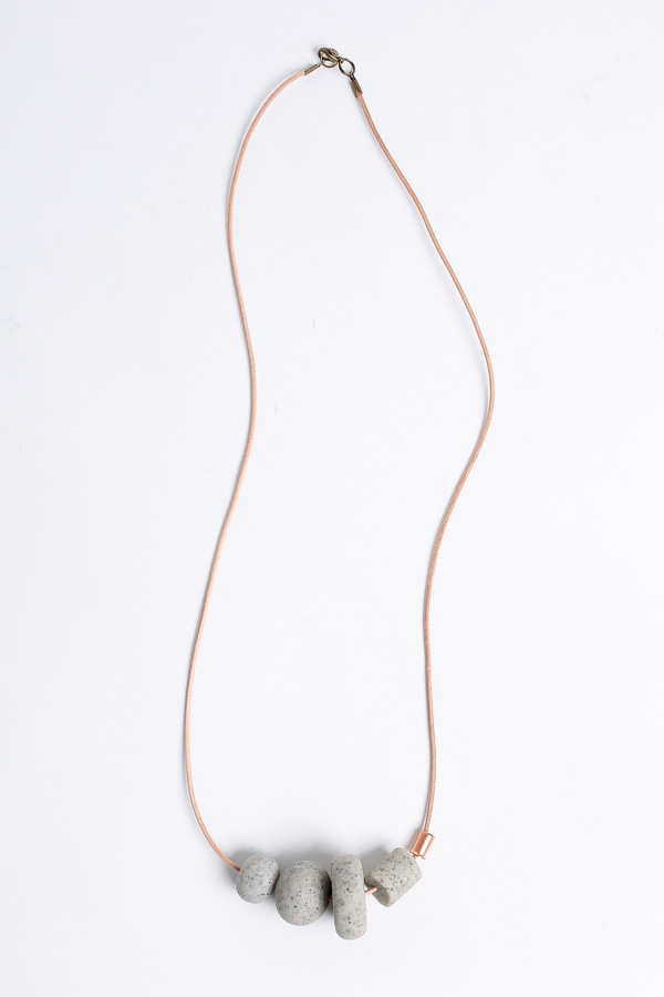 Pepper Train The Everyday Mono Necklace in stone