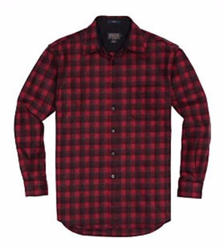 Men's Pendleton Lodge Shirt / Red Plaid