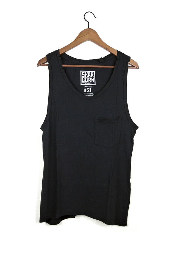 Skargorn #21 Sleeveless Tee, Black Wash