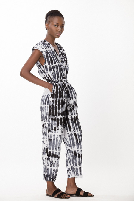 Osei-Duro Accra Romper in Black Chalk
