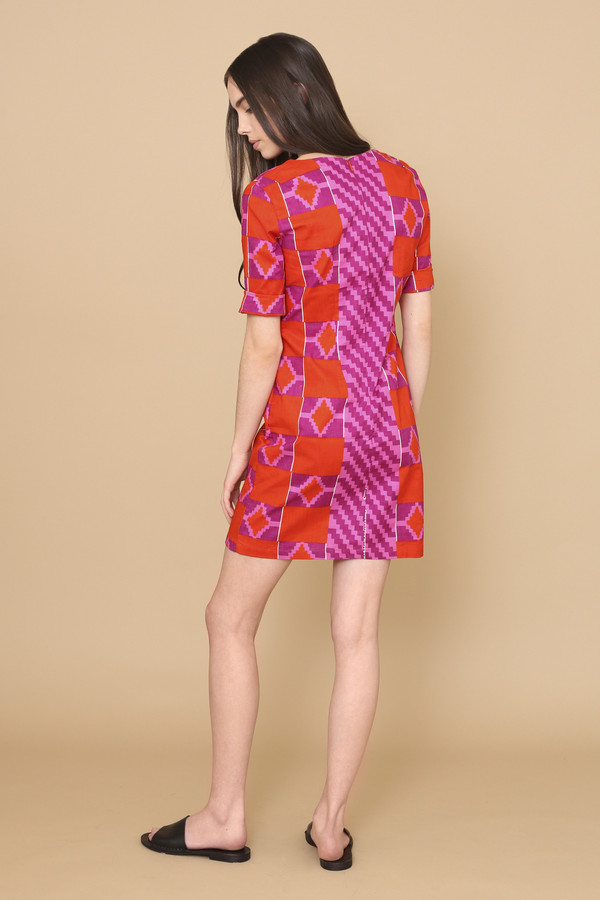Osei-Duro Muto Dress in Hibiscus