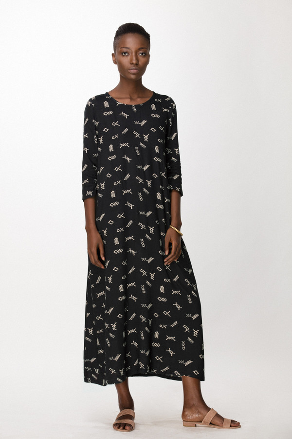 Osei-Duro Nima Dress in Black Jot