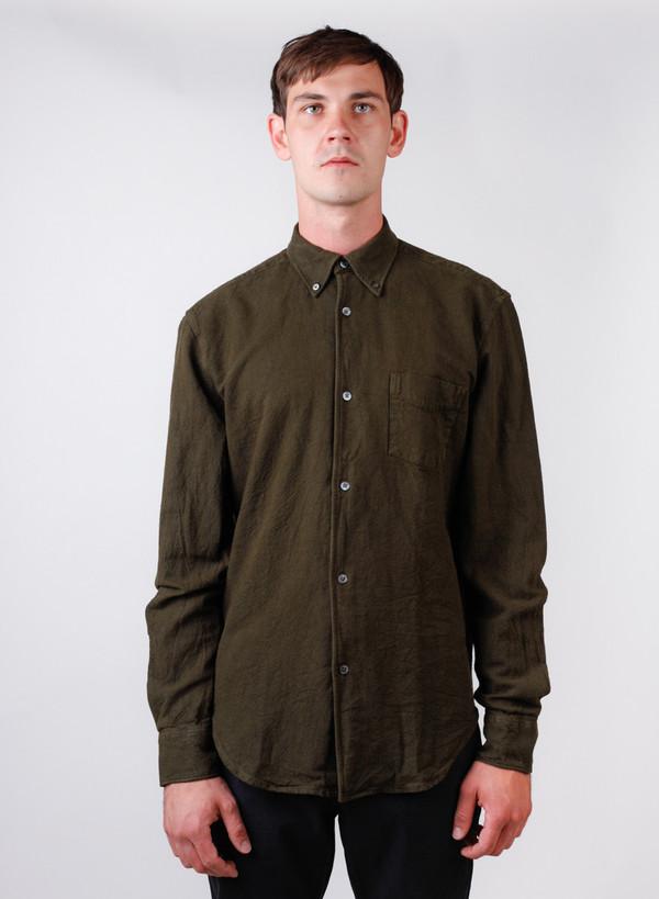 Men's Our Legacy 1950's Shirt Dark Mudd H.A. Oxford