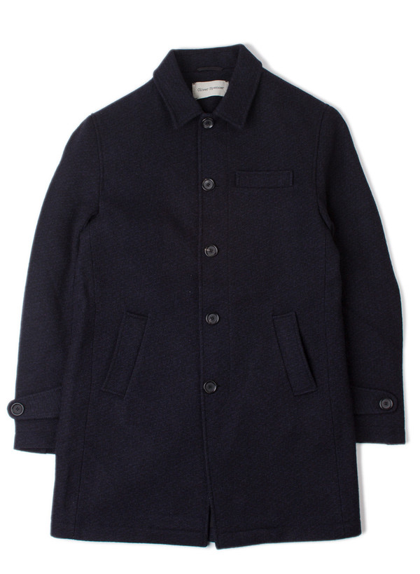 Men's Oliver Spencer Grandpa Coat Barrow Midnight