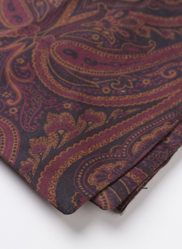 Our Legacy Raw Scarf Red Paisley