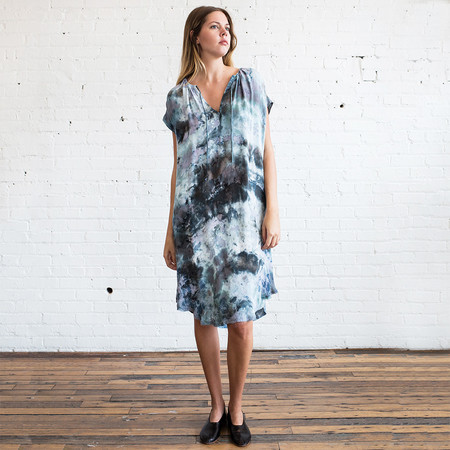 Raquel Allegra Shirred Combo Dress