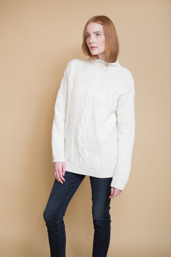 Reality Studio Cable Pullover / Creme