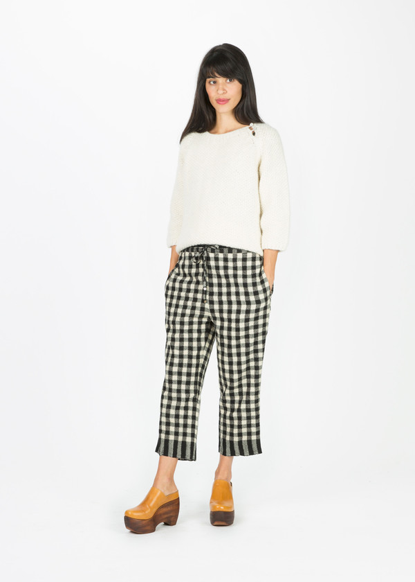 Pero Cropped Gingham Pant