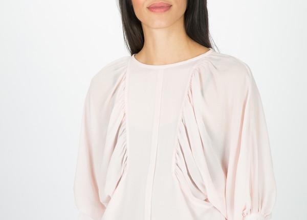 Amelia Toro Gathered Silk Crepe Blouse