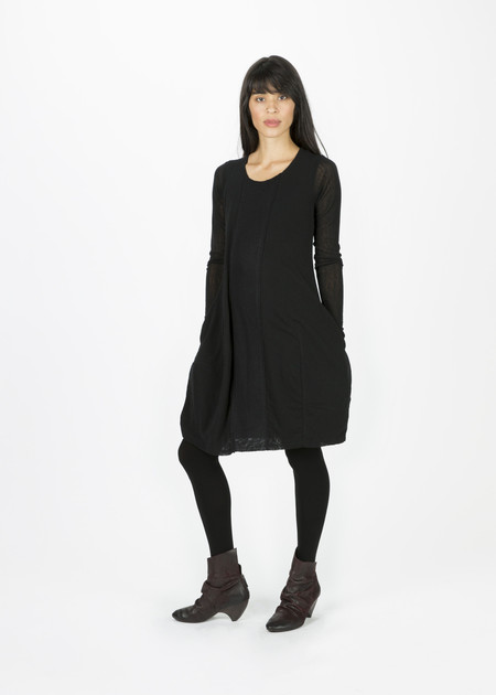 Rundholz Wool Front Panel Dress