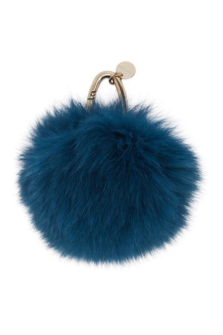 Yves Salomon DEEP SEA FUR KEYCHAIN