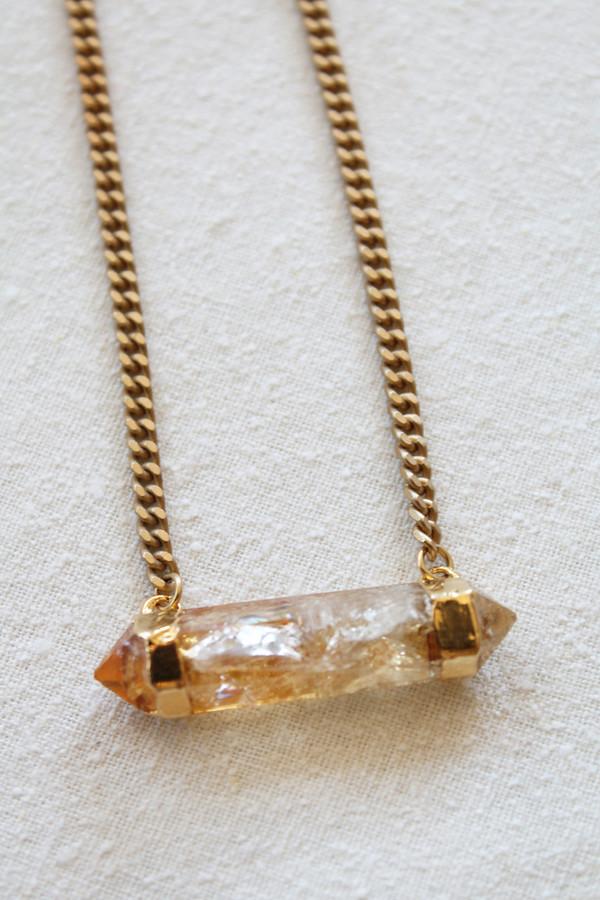sheila b citrine quartz pendant necklace