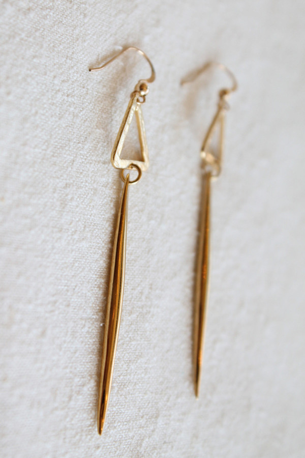sheila b triangle spike earring