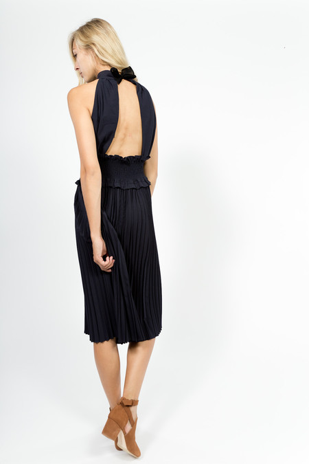 Trademark Wool Pleated Dress