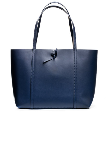 Kara Womens Tie Tote Bag Navy