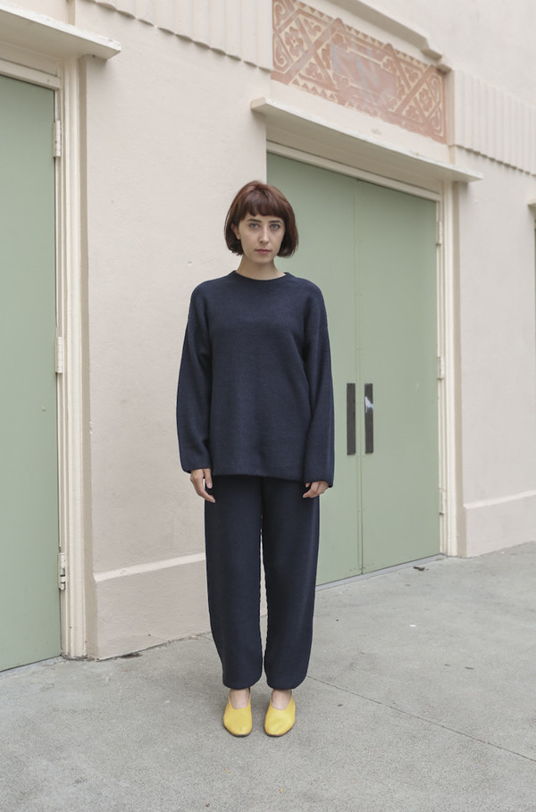 Baserange Gerda Trouser in Navy