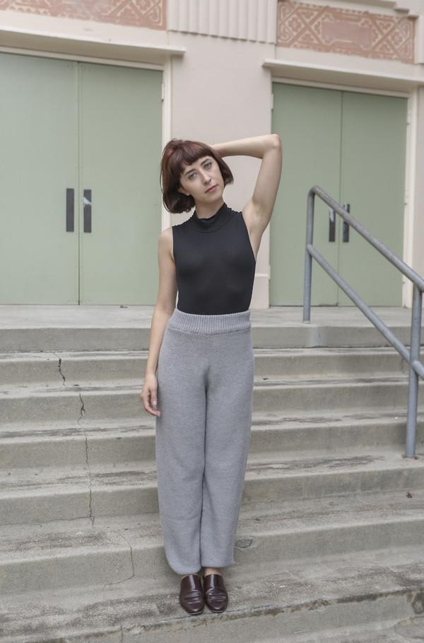 Baserange Gerda Trouser in Grey Melange