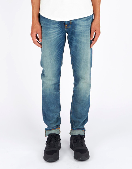Men's Nudie Brute Knut Dakota Blue Washed Indigo