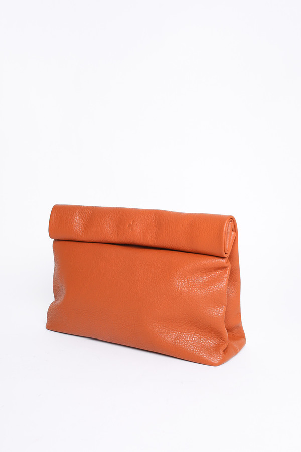 Marie Turnor Lunch clutch in pebble whiskey