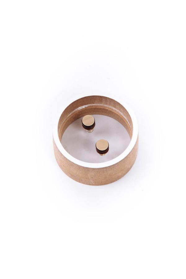Asorti Stud Earrings (Gold Circle)