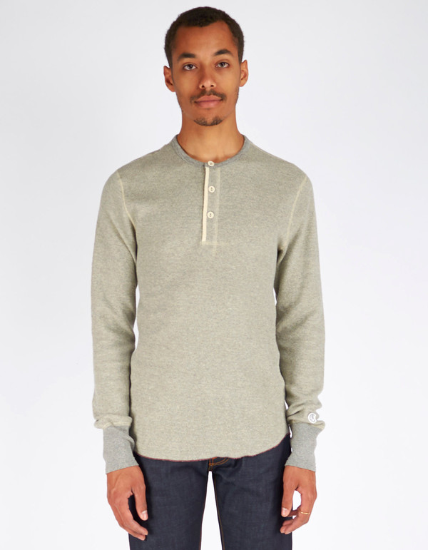 Men's Todd Snyder x Champion Henley Antique Grey Mix