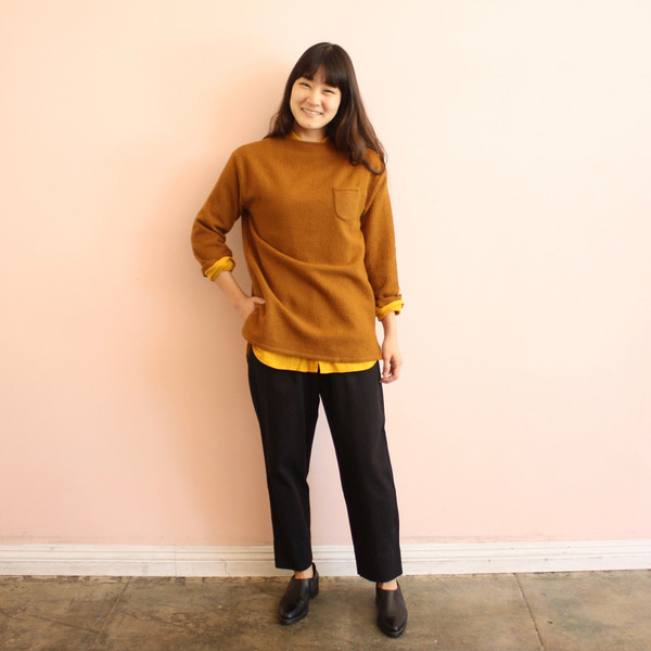 wrk-shp atelier shirt - persimmon