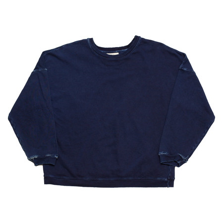 Olderbrother Hand Me Down - Drop Shoulder Crew - Indigo