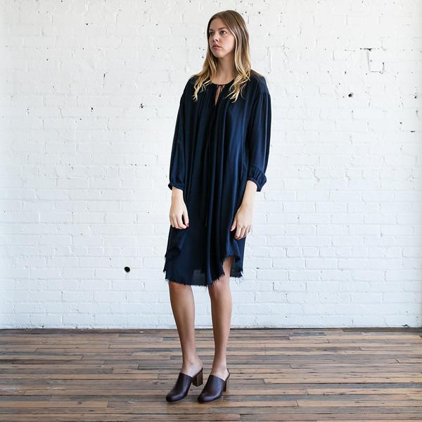 Raquel Allegra Shirred Dress
